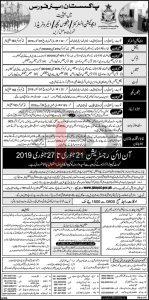 Jobs In Pakistan Air Force 20 Jan 2019 | dailyjobes com