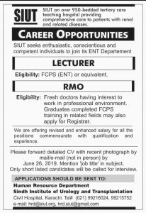 Jobs In Sindh – jobs Institute Of Urology And