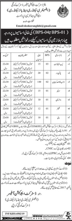Jobs In Army School Of Physical Training Kakol abbotabad 16